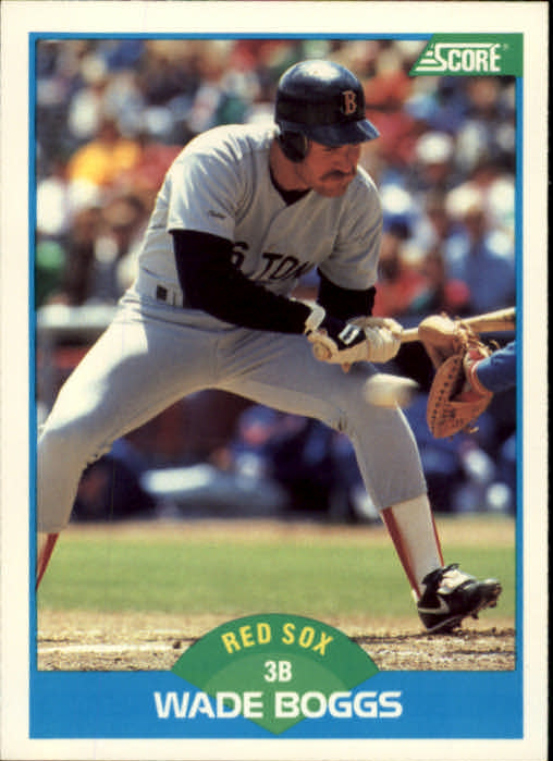 1989 Score #175 Wade Boggs UER/Bio says .364,/should be .356