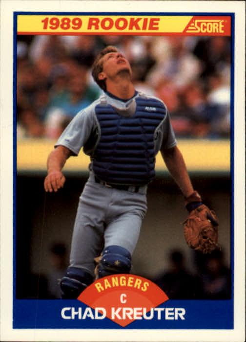 1989 Score #638 Chad Kreuter RC