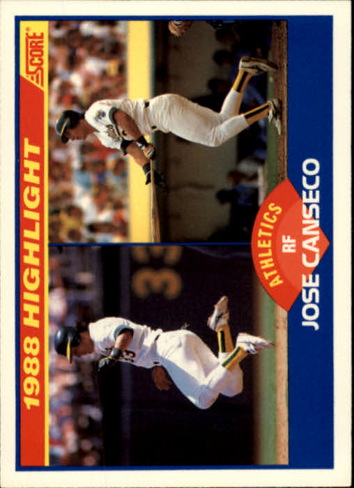 1989 Score #655 Jose Canseco HL
