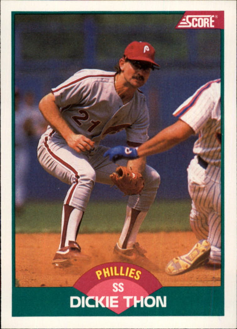 1989 Score Rookie/Traded #55T Dickie Thon
