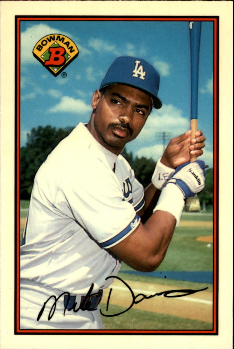 1989 Bowman Tiffany #352 Mike Davis