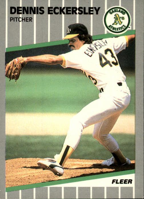 1989 Fleer #7 Dennis Eckersley