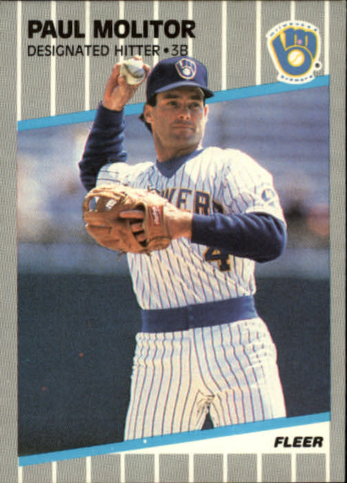 1989 Fleer #193 Paul Molitor