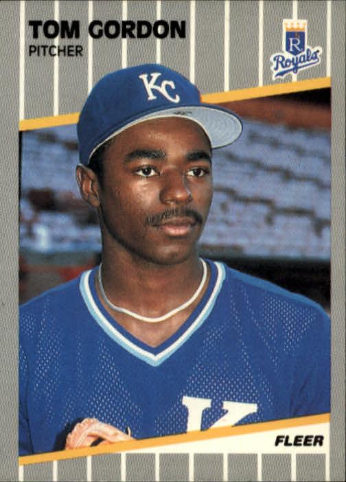 1989 Fleer #284 Tom Gordon RC UER/16.2 innings in '88,/should be 15.2