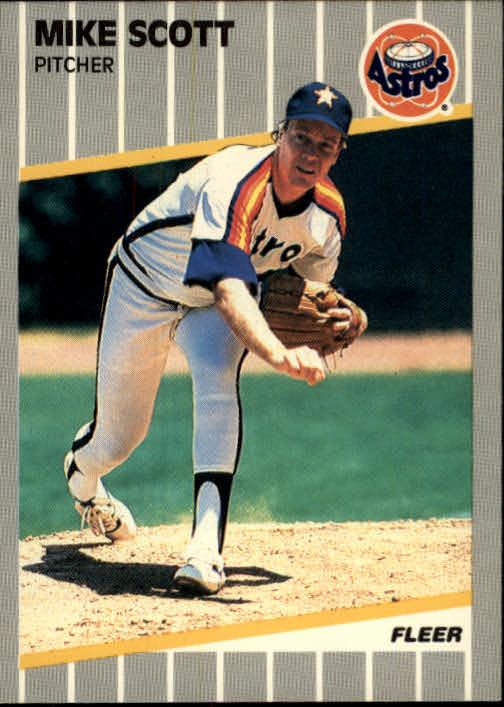 1989 Fleer 367 Mike Scottcard Number Listedas 368 On Astros Cl