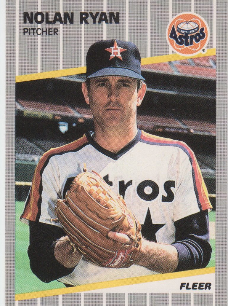 1989 Fleer #368 Nolan Ryan/Card number listed/as 367 on Astros CL