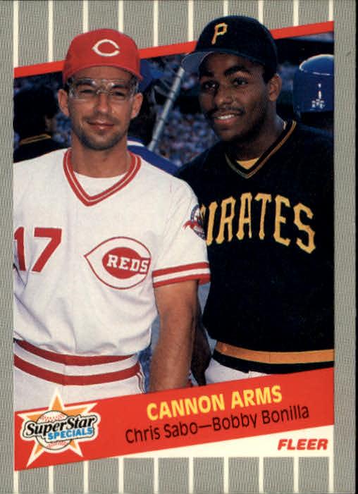 1989 Fleer #637 Chris Sabo/Bobby Bonilla UER/Bobby Bonds, sic