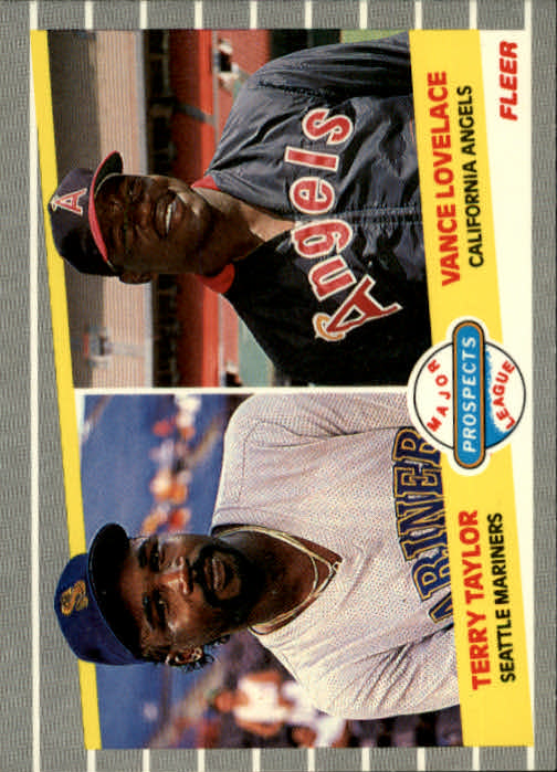 1989 Fleer #651 Terry Taylor RC/Vance Lovelace