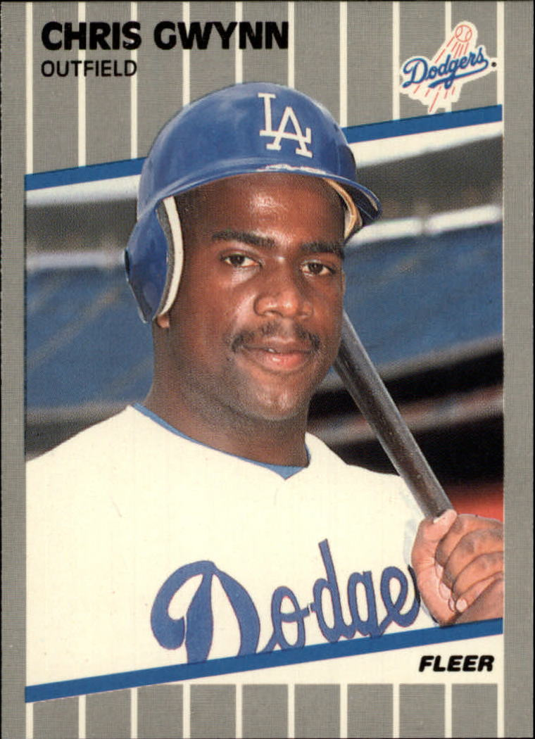1989 Fleer Glossy #59 Chris Gwynn
