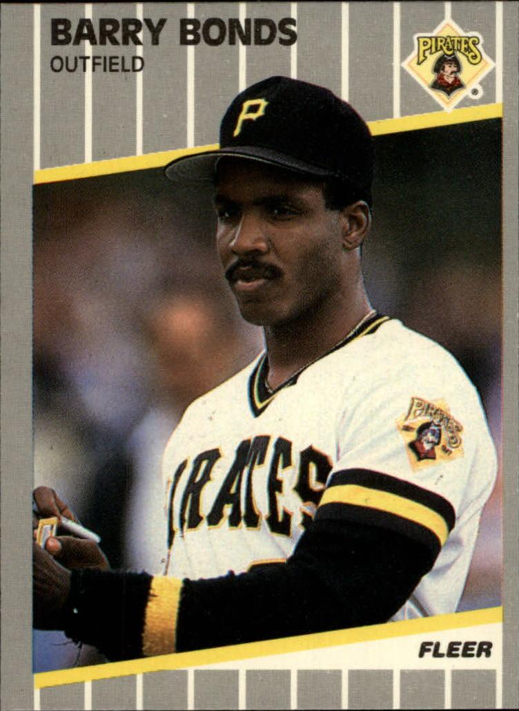 1989 Fleer Glossy #202 Barry Bonds
