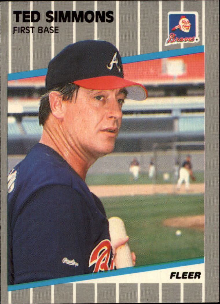 1989 Fleer Glossy #599 Ted Simmons