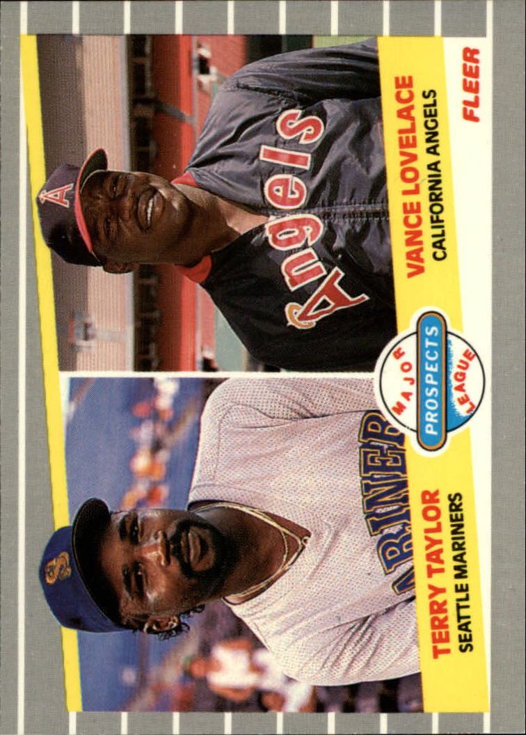 1989 Fleer Glossy #651 T.Taylor/V.Lovelace