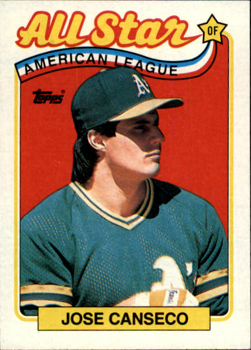 1989 Topps 401 Jose Canseco As Nm Mt