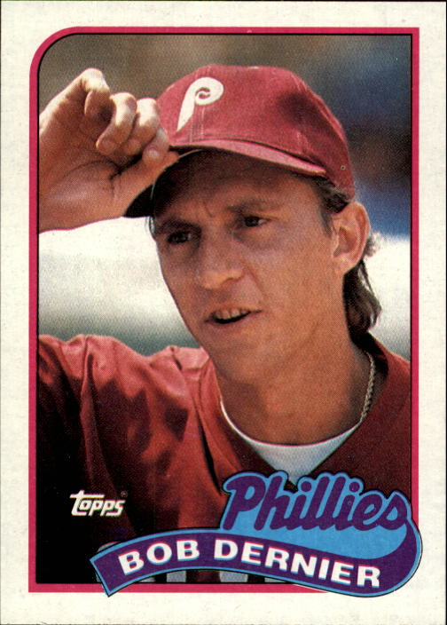 1989 Topps #418 Bob Dernier