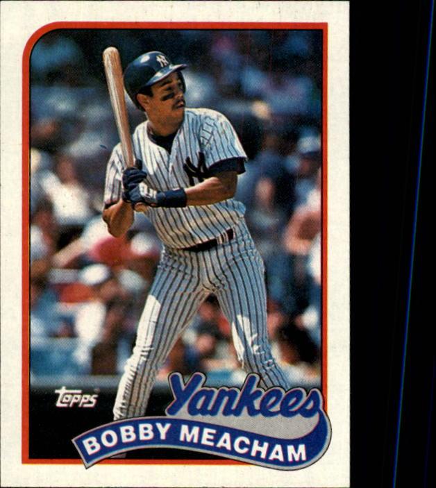 1989 Topps #436 Bobby Meacham