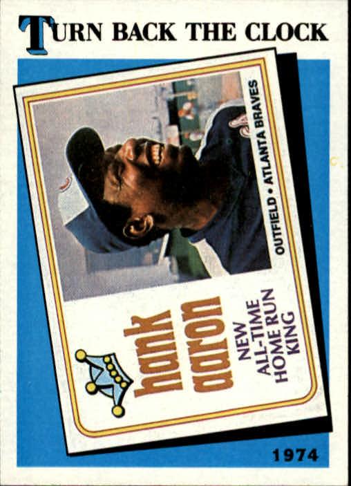 1989 Topps #663 Hank Aaron TBC74