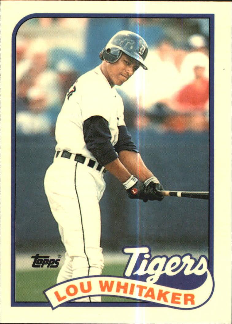 1989 Topps Tiffany #320 Lou Whitaker