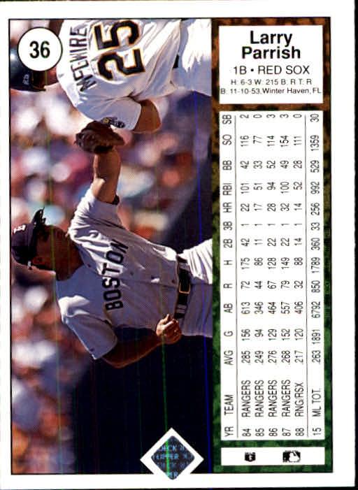 1989 Upper Deck #36 Larry Parrish back image