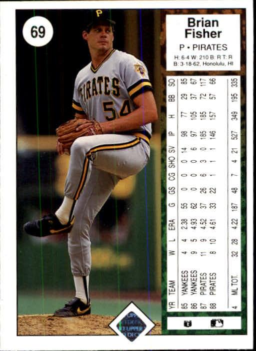 1989 Upper Deck #69 Brian Fisher back image