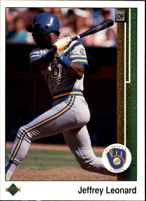 1989 Upper Deck #263 Jeffrey Leonard