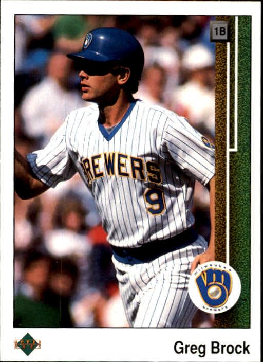 1989 Upper Deck #543 Greg Brock