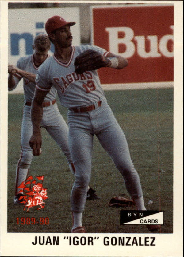 1989-90 BYN Puerto Rico Winter League #42 Juan Gonzalez