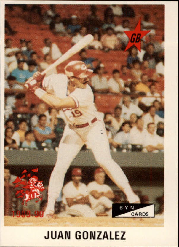 1989-90 BYN Puerto Rico Winter League Update #52 Juan Gonzalez AS