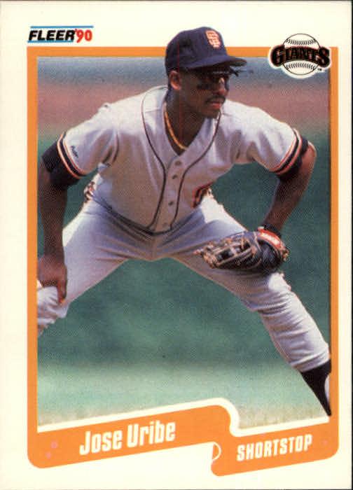 1990 Fleer #74 Jose Uribe