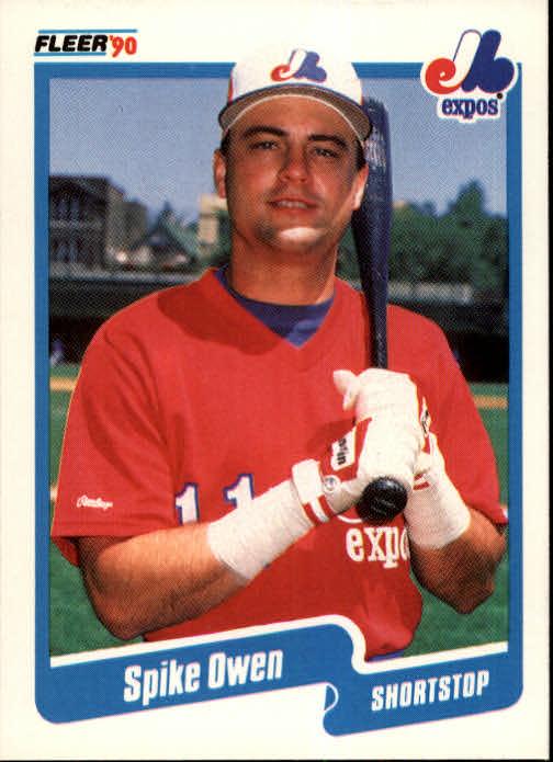 1990 Fleer #357 Spike Owen