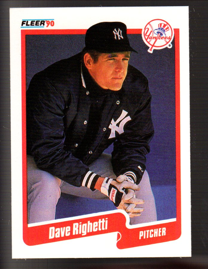 1990 Fleer #453 Dave Righetti