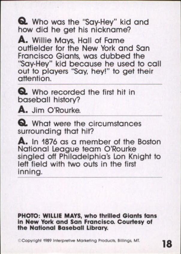 1990 Baseball Wit #17 Brooks Robinson back image