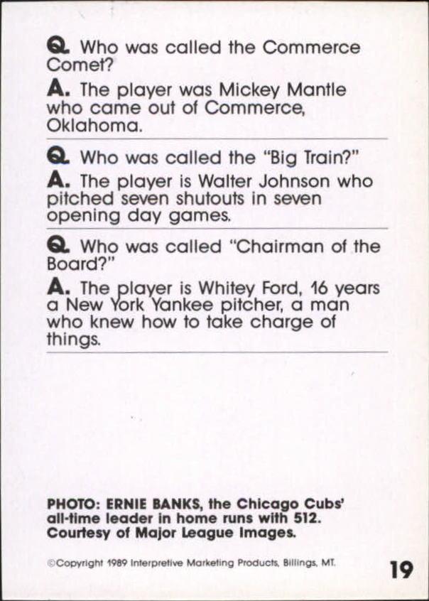 1990 Baseball Wit #18 Willie Mays back image