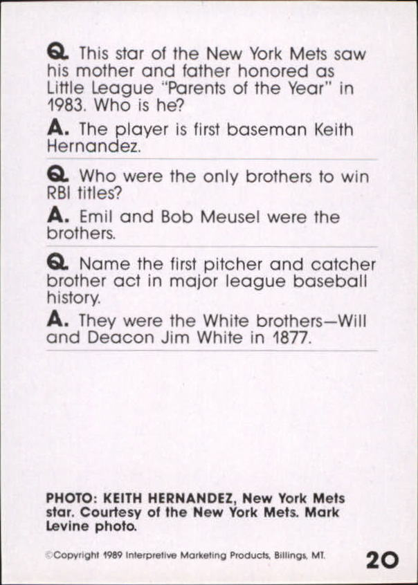 1990 Baseball Wit #19 Ernie Banks back image