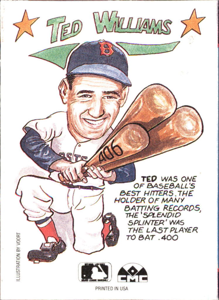 1990 Collect-A-Books #23 Ted Williams back image