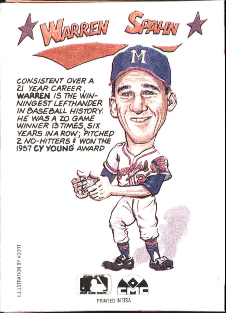 1990 Collect-A-Books #24 Warren Spahn back image