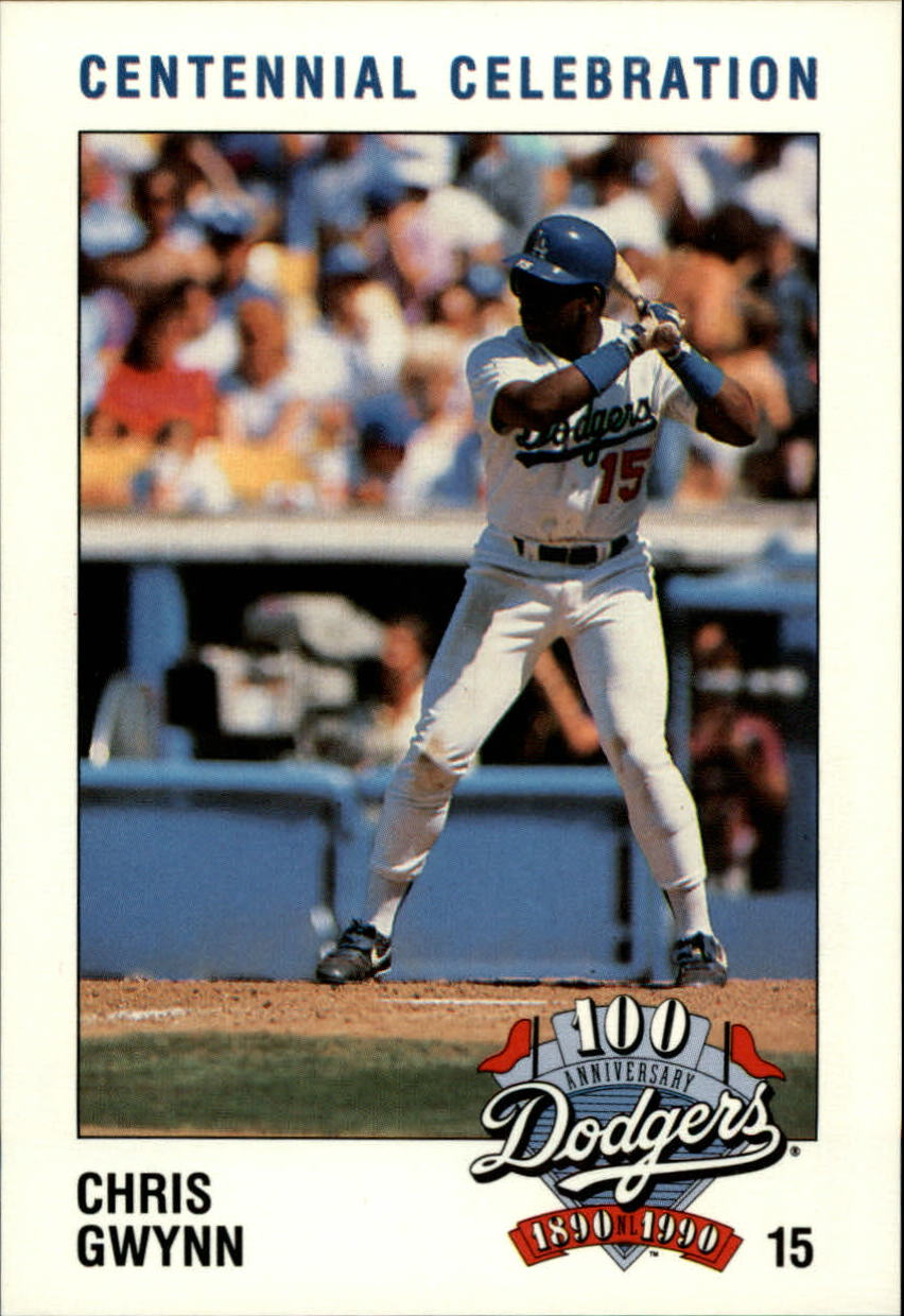 1990 Dodgers Police #15 Chris Gwynn