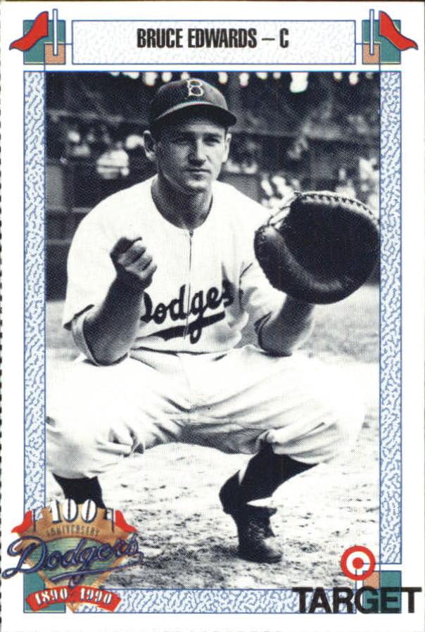 1990 Dodgers Target #212 Bruce Edwards