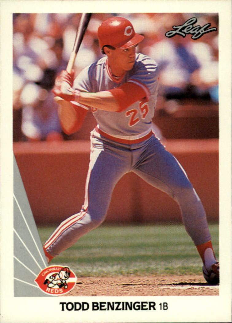 1990 Leaf #15 Todd Benzinger