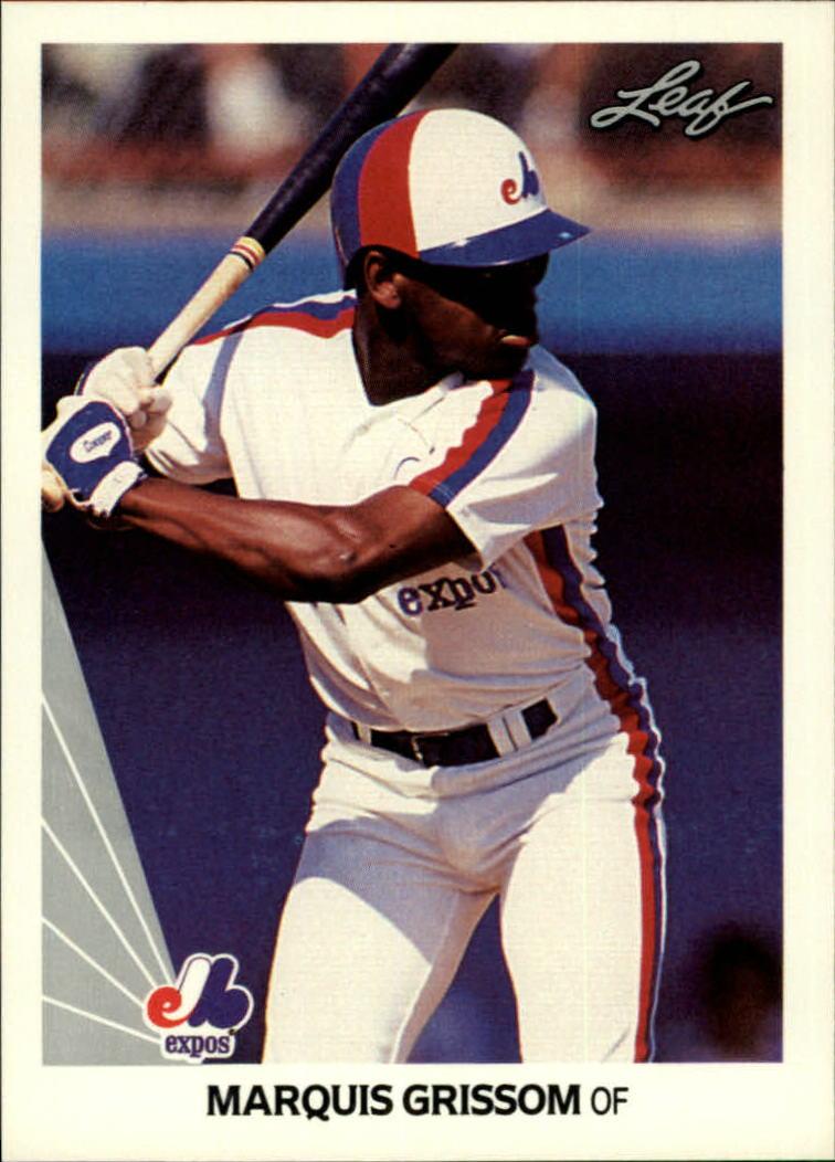 1990 Leaf #107 Marquis Grissom RC