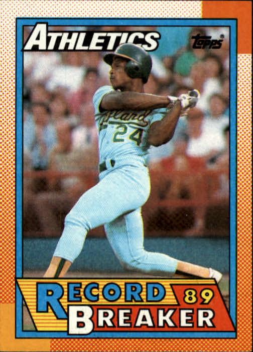 1990 Topps #7 Rickey Henderson RB