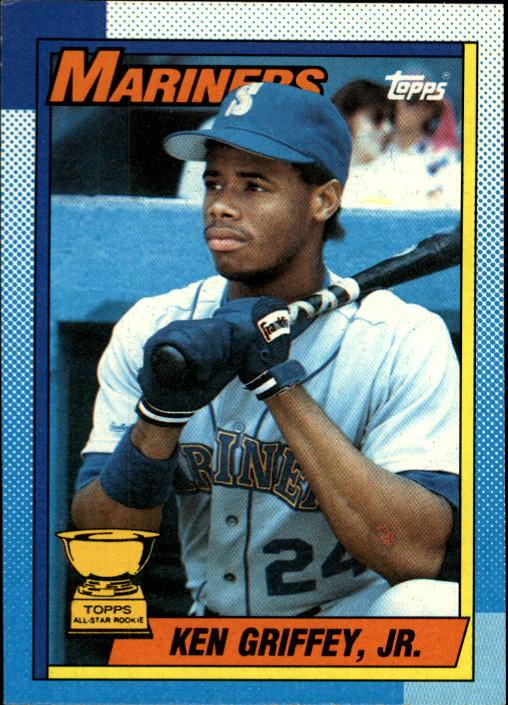 e90238d19e 1990 Topps #336 Ken Griffey Jr. Sports Card Front