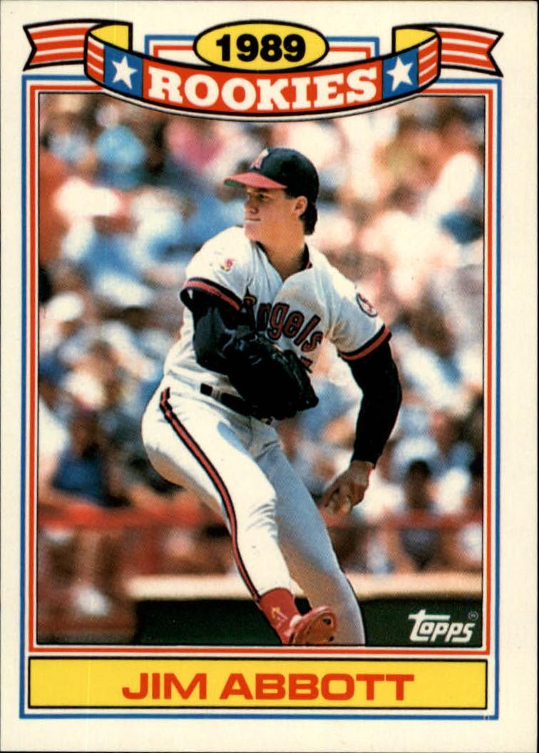 1990 Topps Rookies #1 Jim Abbott