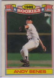 1990 Topps Rookies #3 Andy Benes