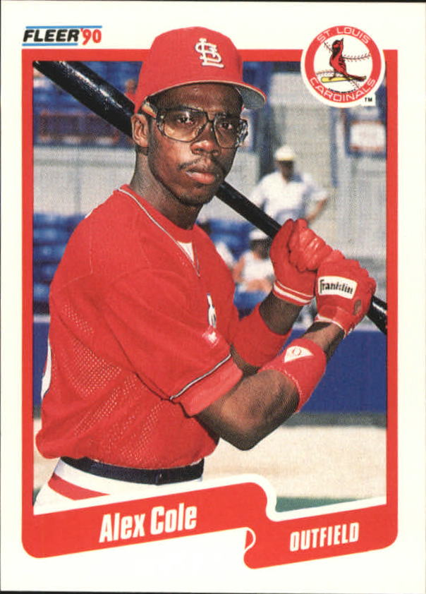 1990 Fleer Canadian #244 Alex Cole