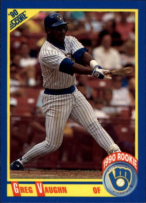 1990 Score #585 Greg Vaughn