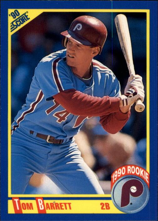 1990 Score #633A Tommy Barrett ERR/29 on back