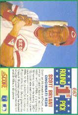 1990 Score #667 Scott Bryant RC back image