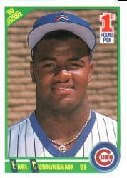 1990 Score #670 Earl Cunningham RC