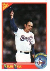 1990 Score #696 Nolan Ryan HL