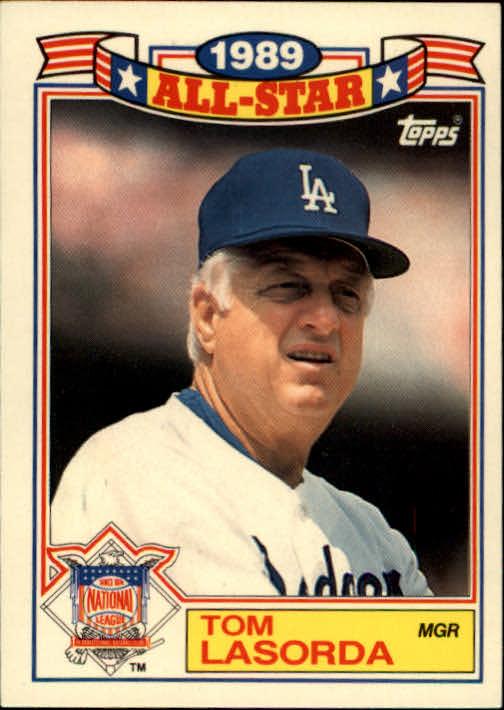 1990 Topps Glossy All-Stars #1 Tom Lasorda MG